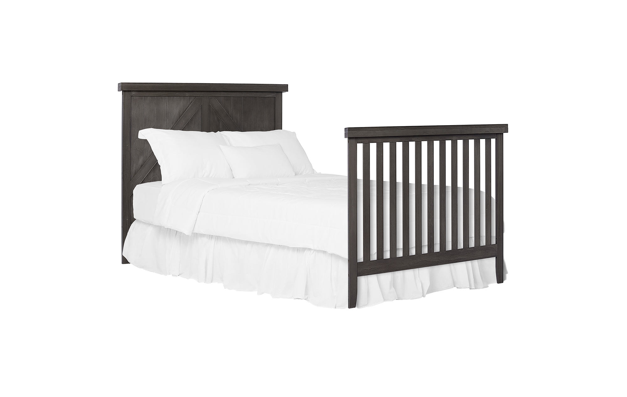 771BR-WGREY Olive Full-Size Bed with Footboard