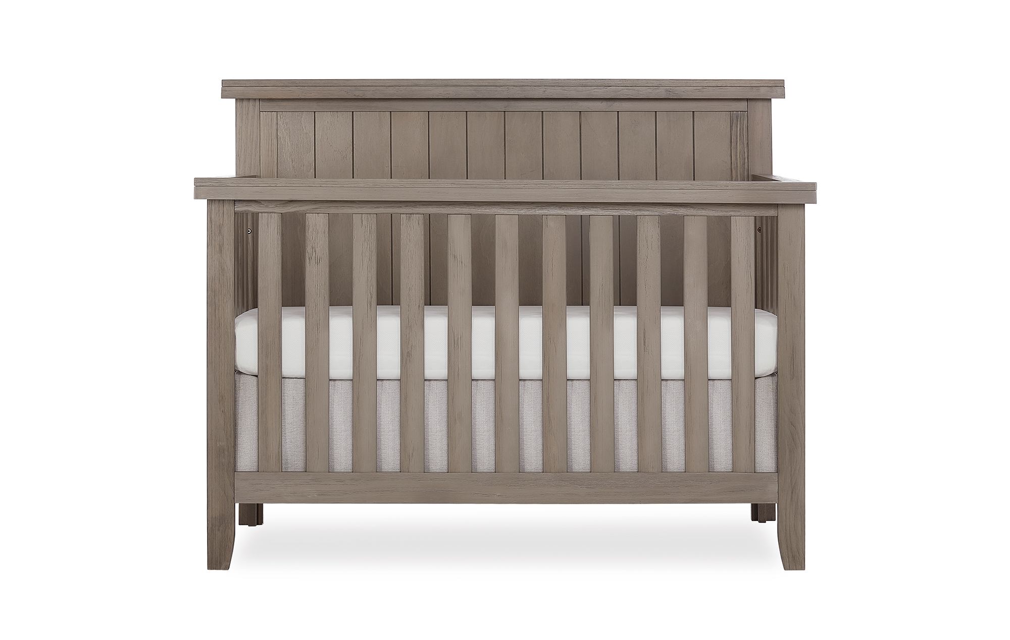 772BR-OAKGY Maple Convertible Crib Front