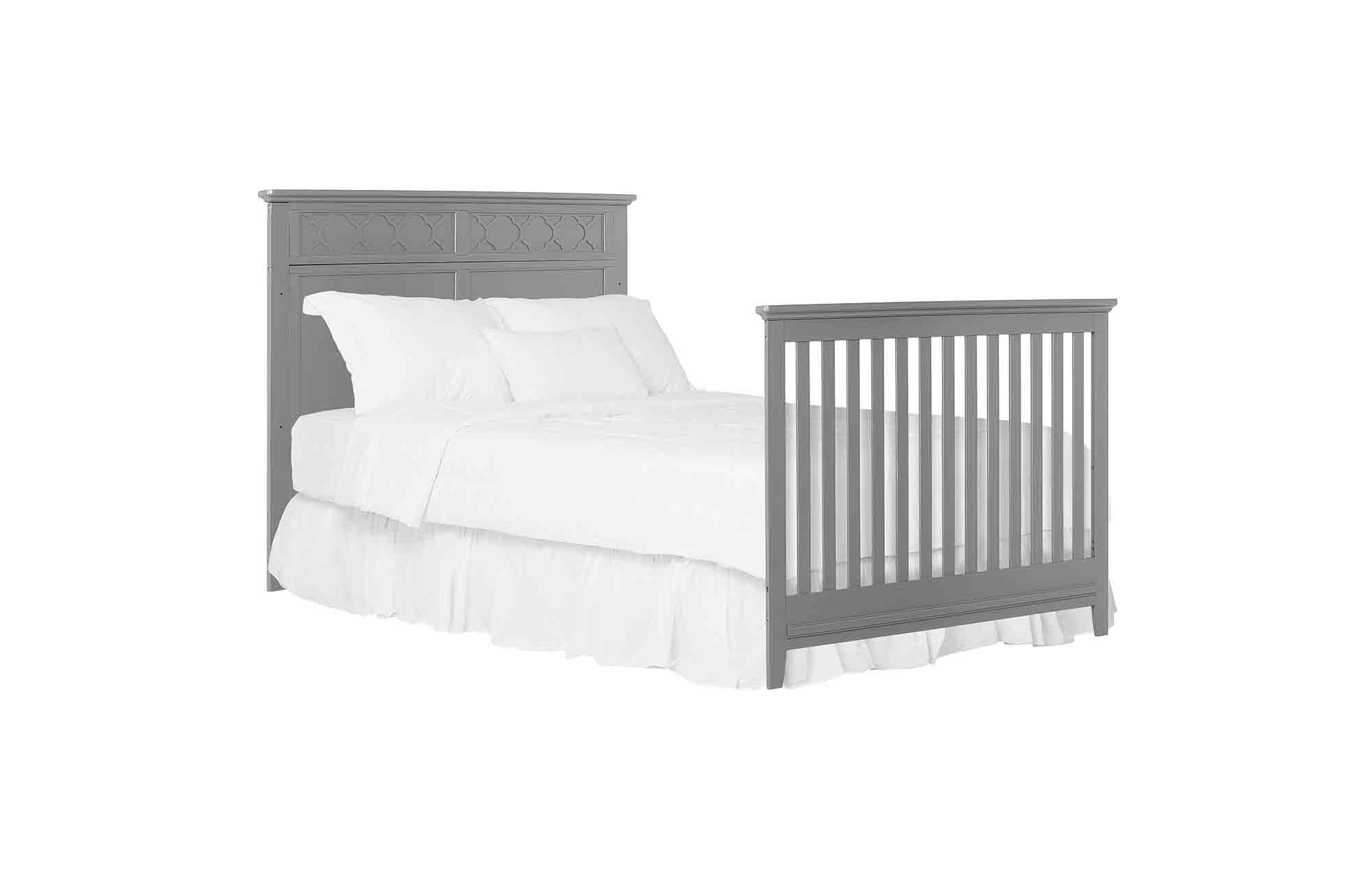 774-SGY Harper Full-Size Bed with Footboard