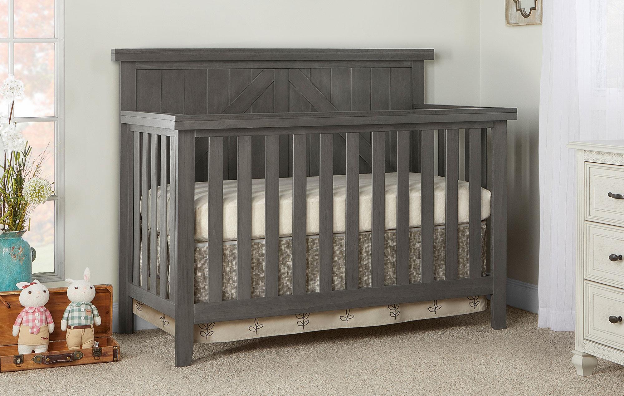 771-WGREY Olive Convertible Crib Room Shot