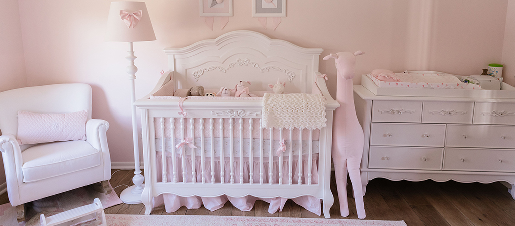 A Dreamy Pink And White Nursery For A Little Angel